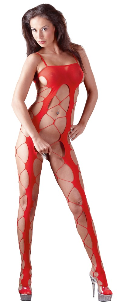 Image of Catsuit Grobnetz rot S-L