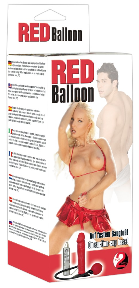Image of Red Balloon Dildo z.aufpumpen