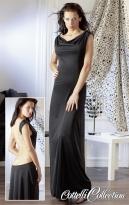 Kleid mit Ketten schwarz M