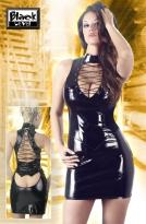 Lack Kleid schwarz L