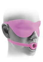 Open Mouth Gag und Maske small - pink