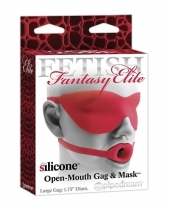 Open Mouth Gag und Maske large - red