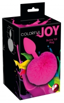 Colorful Joy Bunny Tail Plug